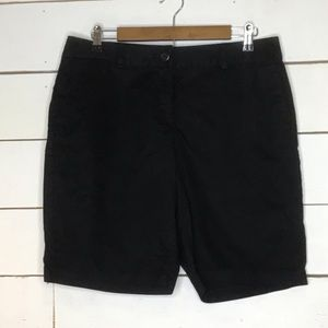 New Ann Taylor LOFT Bermuda Short Original Black